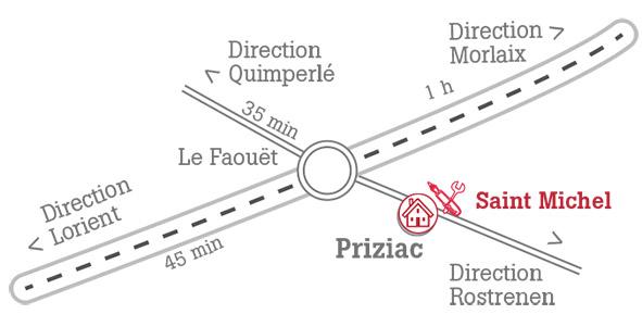 Accès Lycée St Michel